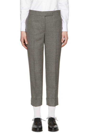 Thom Browne - Grey Classic Backstrap Trousers