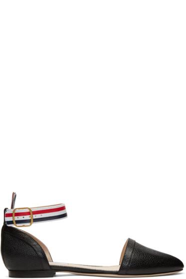 Thom Browne - Black D'Orsay Ballerina Flats