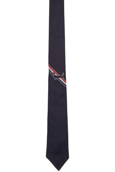 Thom Browne - Navy Hector Stripe Classic Tie