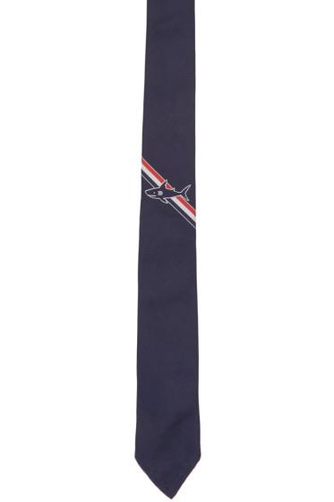 Thom Browne - Navy Shark Stripe Classic Tie