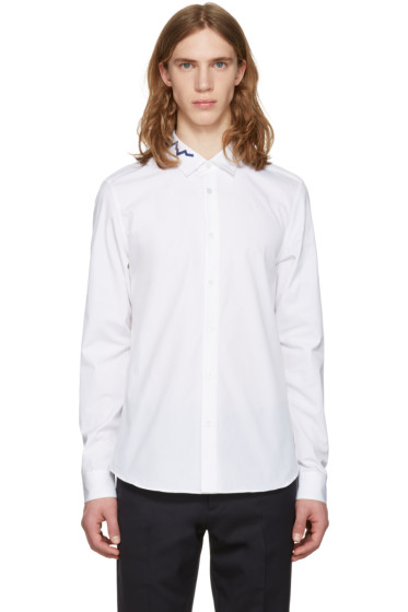 Kenzo - White Soundwave Collar Shirt