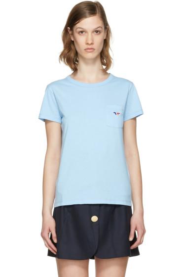 Maison Kitsuné - Blue Fox Patch T-Shirt