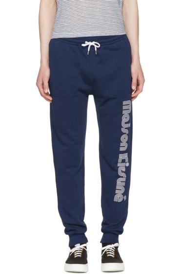 Maison Kitsuné - Navy Logo Jogg Lounge Pants