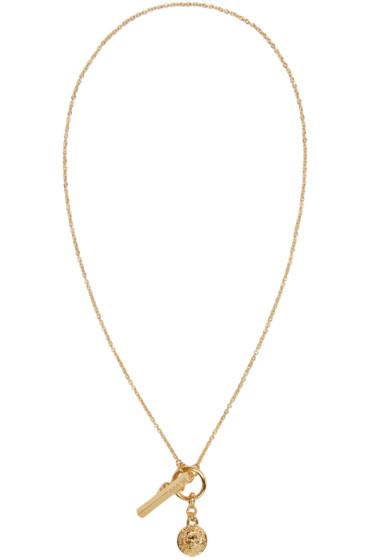 Versus - Gold Lion Medallion Necklace