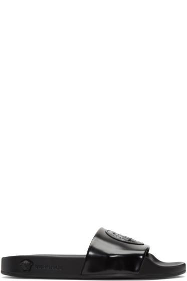 Versace - Black Medusa Pool Slide Sandals