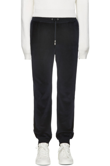 Versace - Navy Velour Lounge Pants