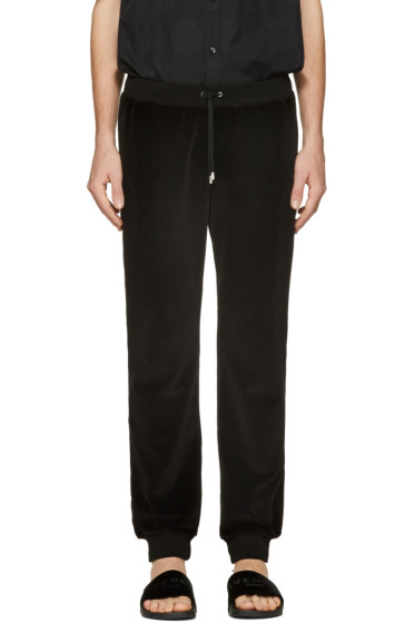 Versace - Black Velour Lounge Pants