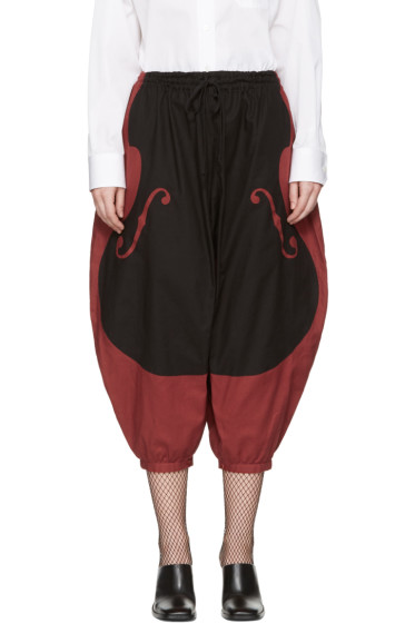 Undercover - Red & Black Violon Trousers