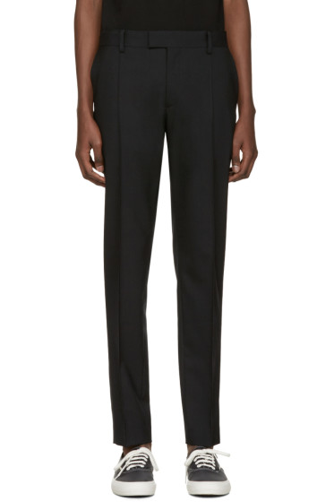 Undercover - Black Front Pleat Trousers
