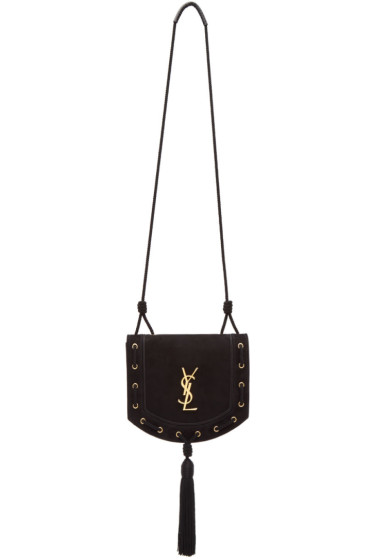 Saint Laurent - Black Suede Medium Fetish Passementerie Satchel