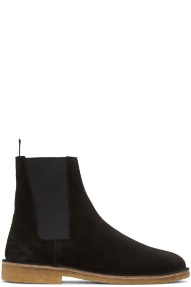 Saint Laurent - Black Suede Nevada Boots