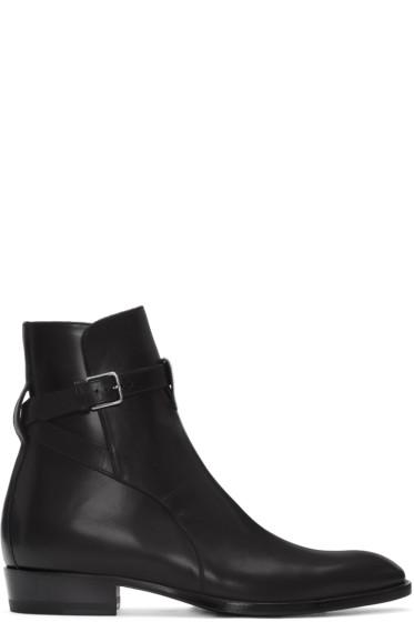 Saint Laurent - Black Wyatt Jodhpur Boots