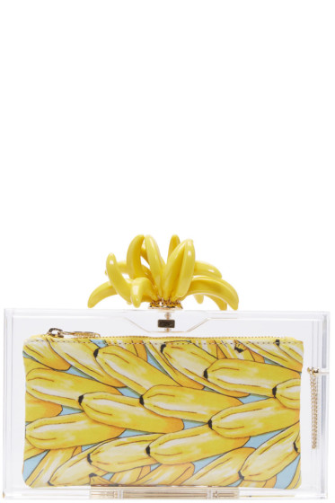 Charlotte Olympia - Transparent Bananas For Pandora Clutch