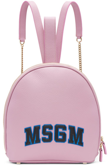 MSGM - Pink Logo Backpack