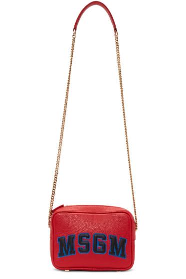 MSGM - Red Logo Shoulder Bag