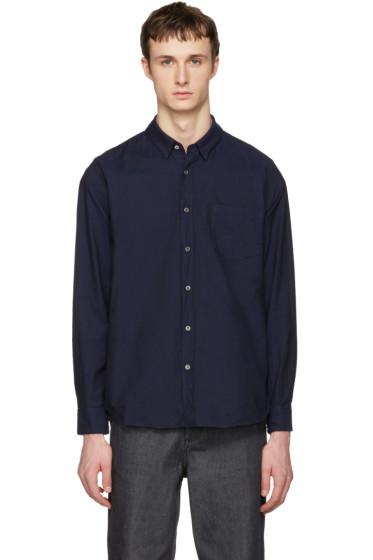 Sacai - Navy Oxford Shirt