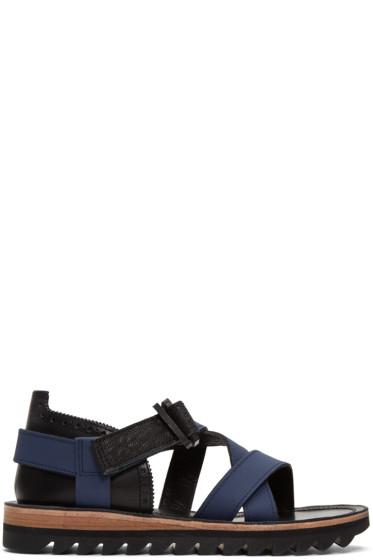 Sacai - Navy Hender Scheme Edition Strap Sandals