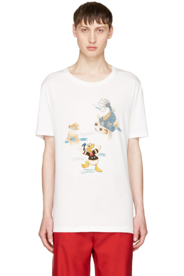 Gucci - White Donald Duck T-Shirt