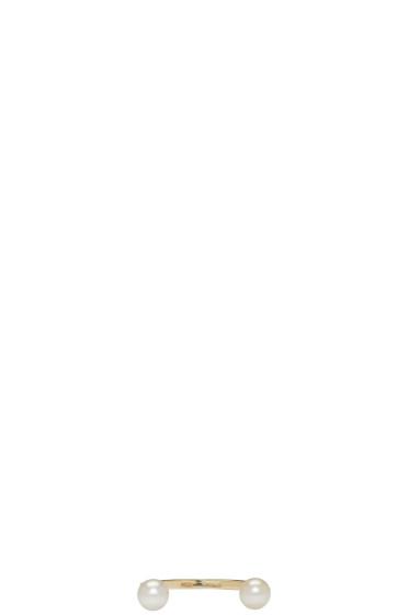Delfina Delettrez - ゴールド ダブル パール リング