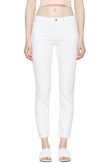 Frame Denim - White 'Le Boy' Jeans