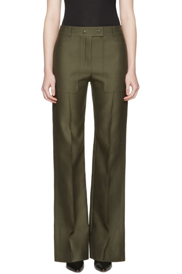 Nina Ricci - Green High Waist Wide-Leg Trousers