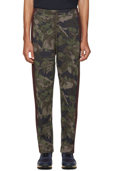 Valentino - Green Tropical Camo Lounge Pants