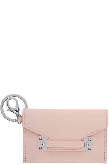 Sophie Hulme - Pink Micro Milner Envelope Keychain
