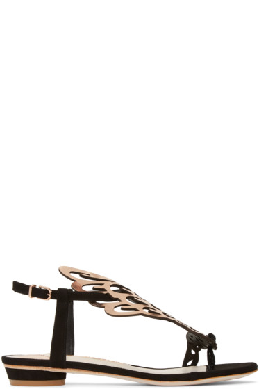 Sophia Webster - Black Suede Seraphina Sandals
