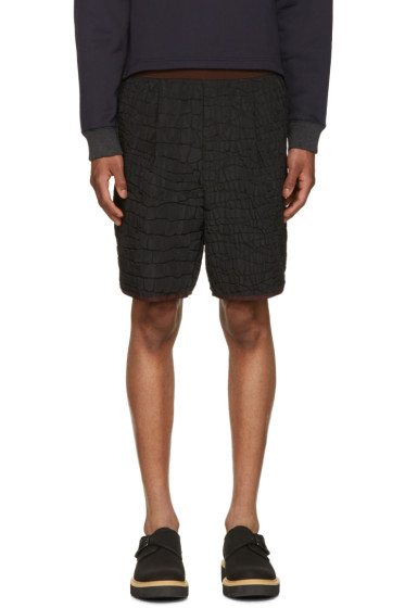 Kolor - Black Contrast Waistband Shorts