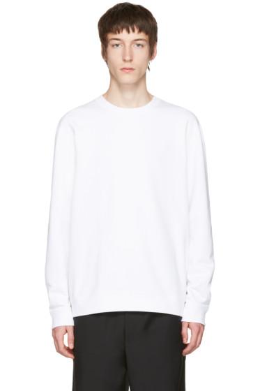 Naked & Famous Denim - White Slim Crewneck Sweatshirt