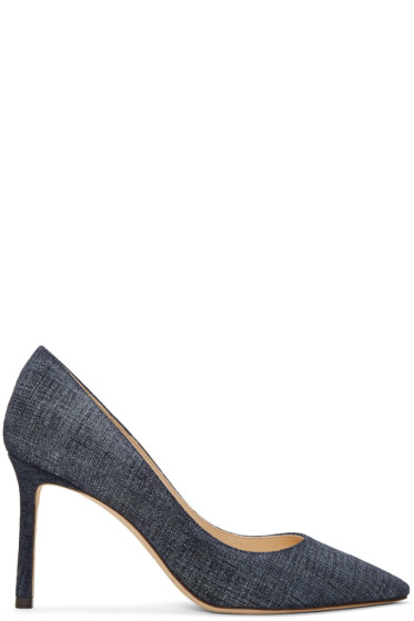 Jimmy Choo - Indigo Denim Romy Heels