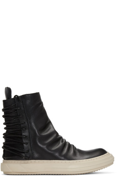 D.Gnak by Kang.D - Black Lace-Up Back High-Top Sneakers