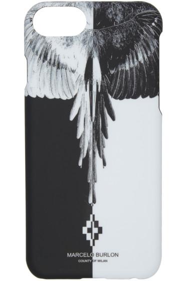 Marcelo Burlon County of Milan - ブラック & ホワイト エイク iPhone 7 ケース