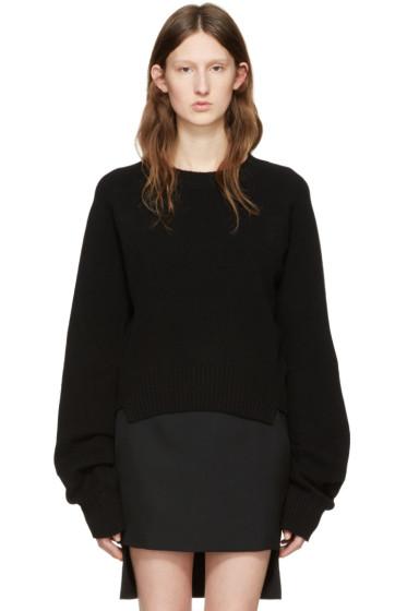 Haider Ackermann - Black Cropped Sweater