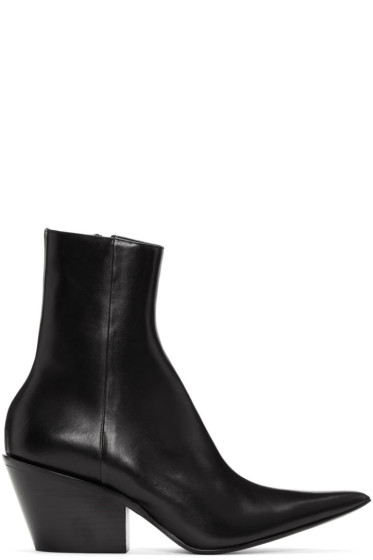 Haider Ackermann - Black Chunky Boots