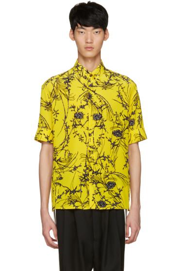Haider Ackermann - Yellow Floral Shirt