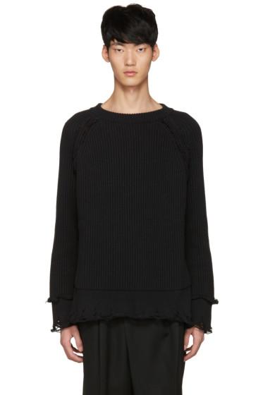 Haider Ackermann - Black Ribbed Sweater