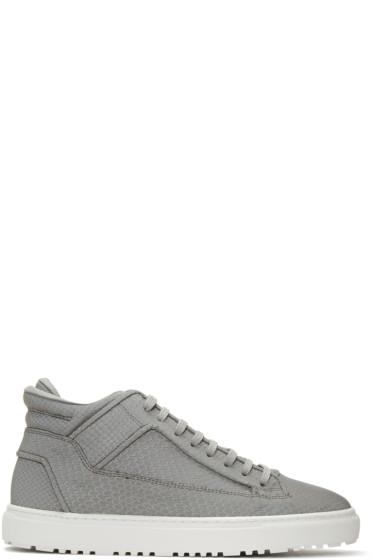 ETQ Amsterdam - Grey Reflective Python Mid 2 Sneakers