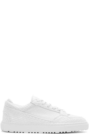 ETQ Amsterdam - White Python Low 3 Sneakers