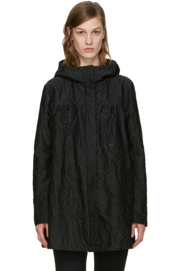 Moncler Gamme Rouge - ブラック ジャカード クロケット コート