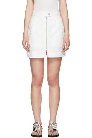 Isabel Marant - White Workwear Denim Demie Miniskirt