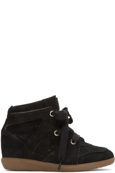 Isabel Marant - Black Bobby Wedge Sneakers