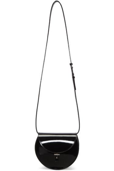 PB 0110 - ブラック パテント レザー AB 21 ショルダー バッグ