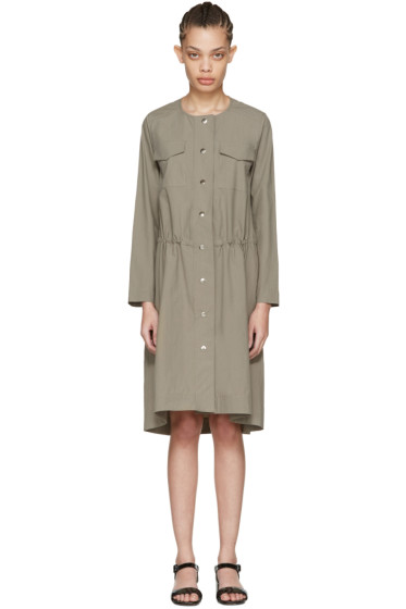 Nomia - Taupe Snap Front Dress