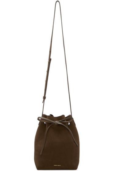 Mansur Gavriel - Brown Suede Mini Bucket Bag