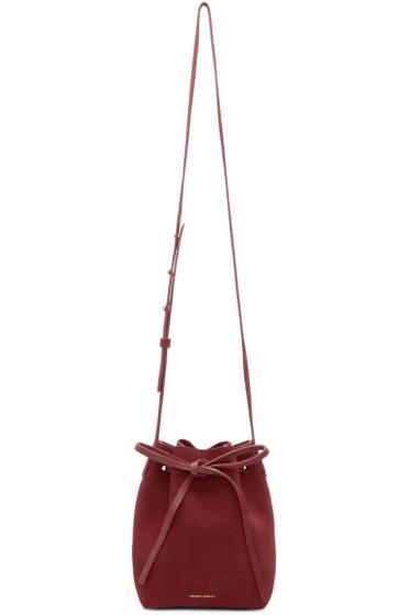 Mansur Gavriel - Burgundy Suede Mini Mini Bucket Bag