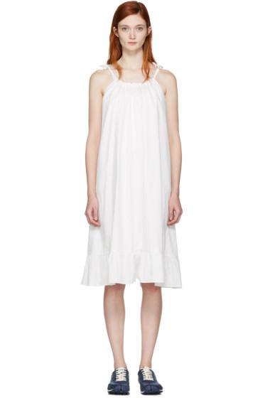 Edit - ホワイト タイ ストラップ ドレス
