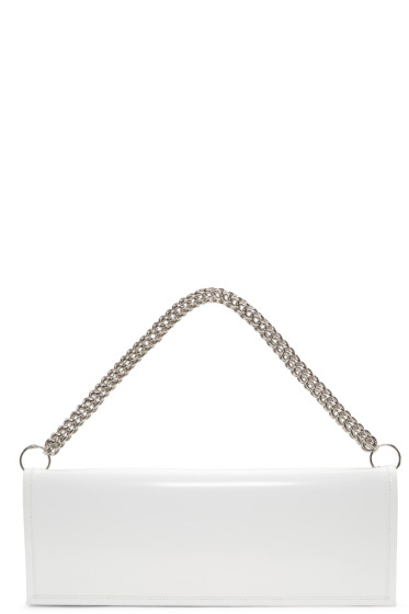 Vetements - White Eastpak Edition Patent Clutch