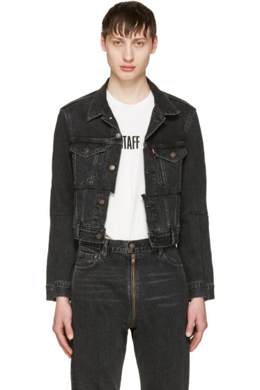 Vetements - Black Levi's Edition Reworked Denim Jacket