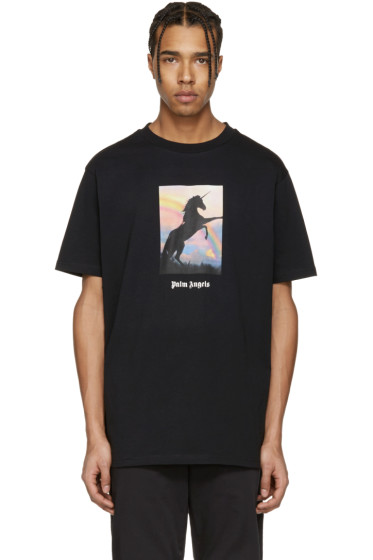 Palm Angels - Black 'Unicorns Do Exist' T-Shirt